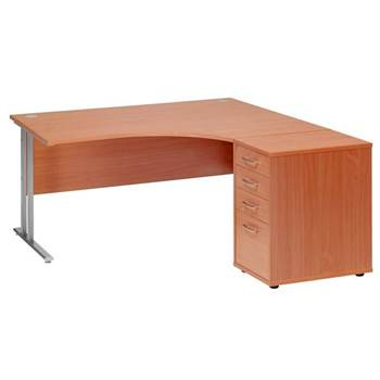 Package deal: ergonomic desk + desk high pedestal