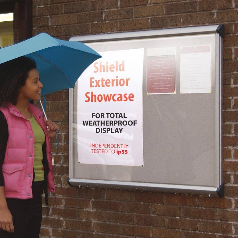 """""""Shield"""" outdoor notice board"""