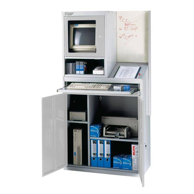 Computer workstation with whiteboard