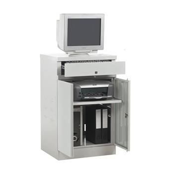 Compact flat top computer workstation