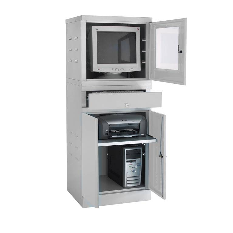Enclosed compact computer workstation