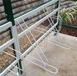 Premier cycle shelters with perspex sides: basic unit
