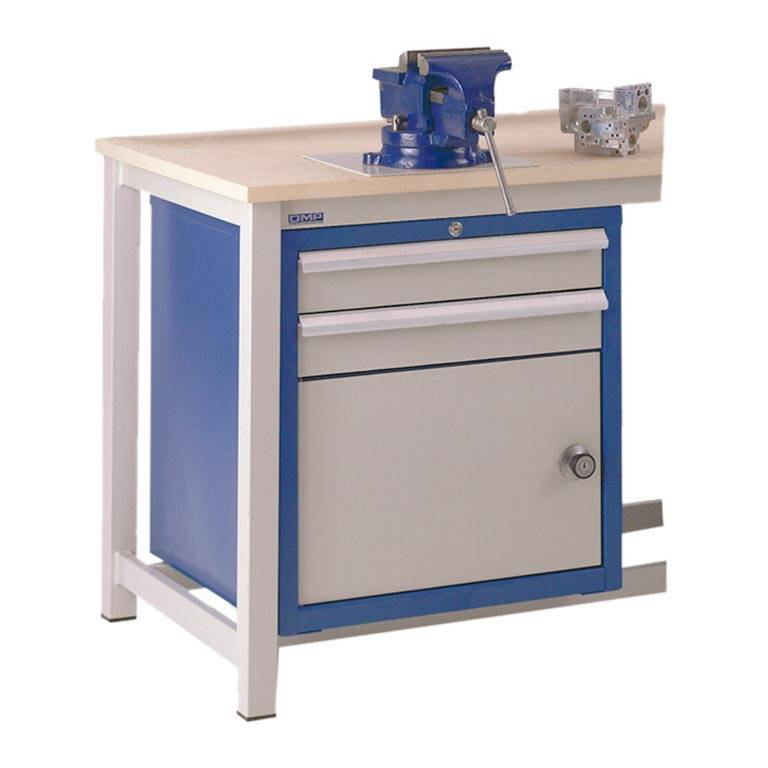 Drawer unit for storage workbench: 2 dwrs/cupboard