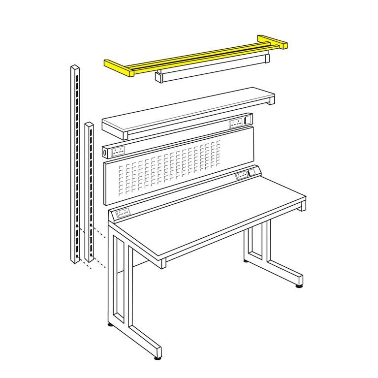 Light/tool rail support