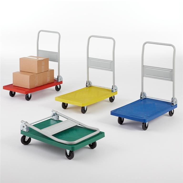 Folding coloured platform trolley