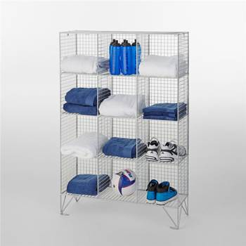 Mesh multi-compartment storage: without doors