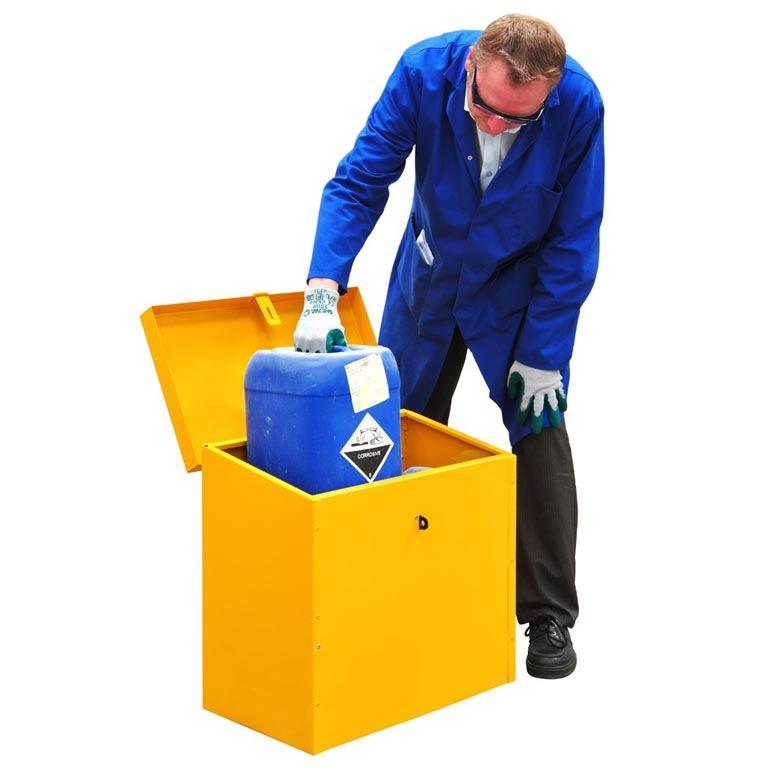 Hazardous storage floor chests