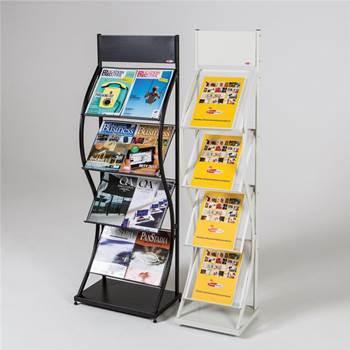 Wave leaflet rack