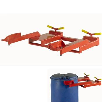 Short arm plastic drum clamp: 450kg