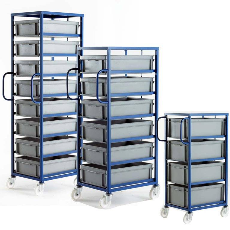 Mobile tray racks