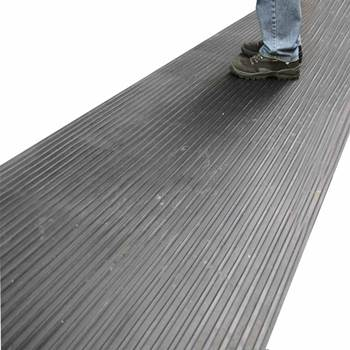 Wide ribbed matting
