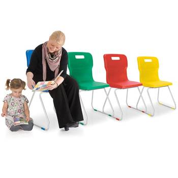 Titan plastic chair with skid legs