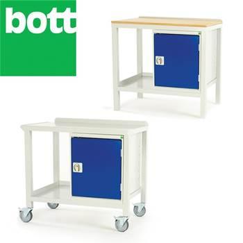 Welded workbench with cupboard