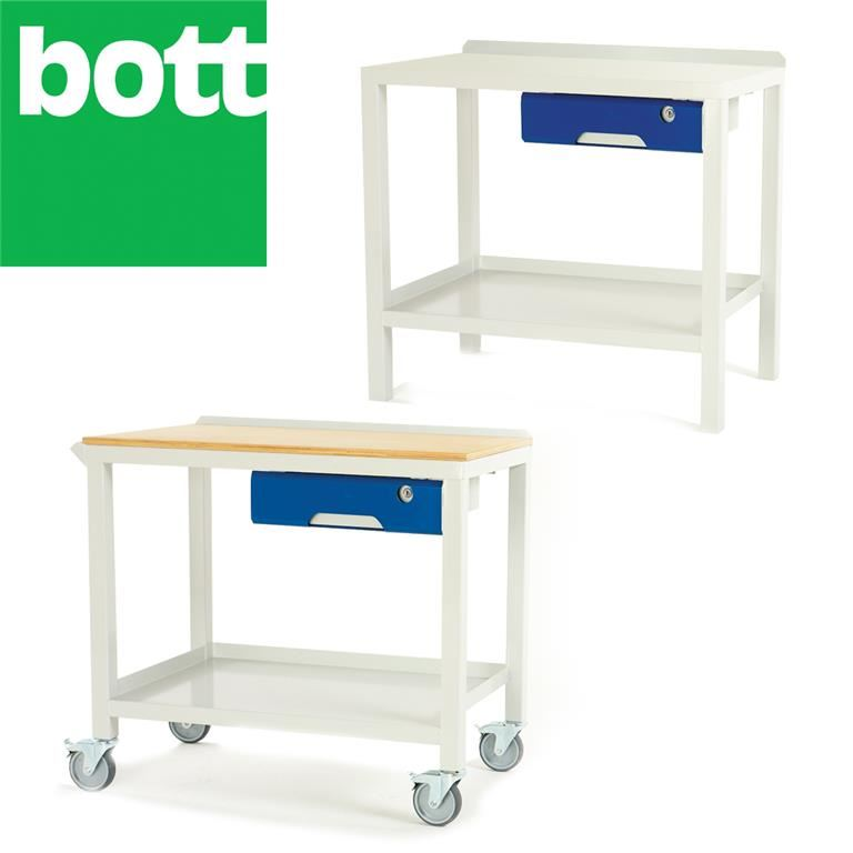 Welded workbench with drawer