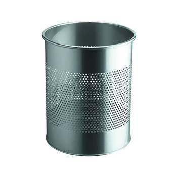 Round waste bin: metal: 15L