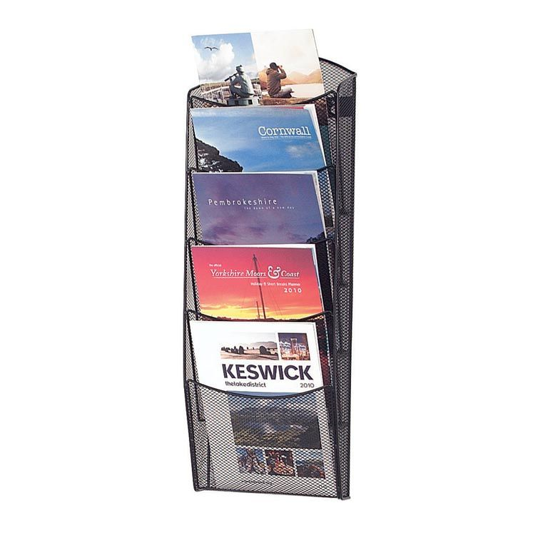Mesh brochure racks: A4