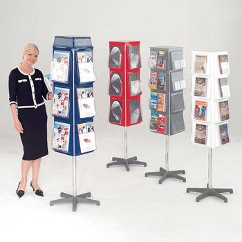 Revolving leaflet dispensers