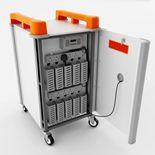 Mobile laptop cabinets: 10 ports: vertical storage