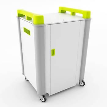 Mobile laptop cabinets: 16 ports: horizontal storage