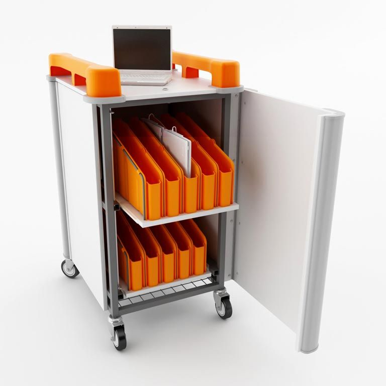 Mini laptop trolley: 20 netbook ports