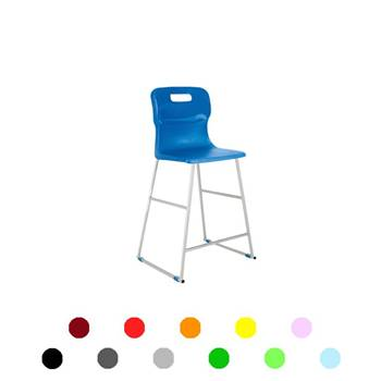High plastic chairs: H 445 mm