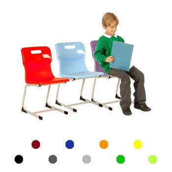 Plastic reverse cantilever chair: H 350 mm
