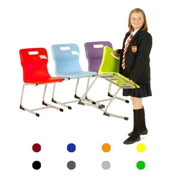 Plastic reverse cantilever chair: H 430 mm