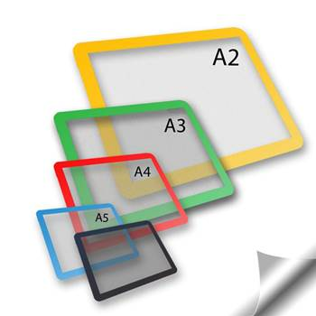 Self-adhesive document frames