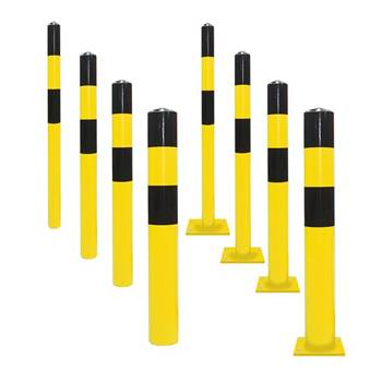 Heavy-duty parking bollards