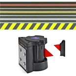 Magnetic wall-mounted belt barrier