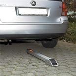 Semi-automatic drop-down parking post