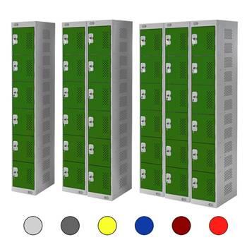 Lockers: 6 doors