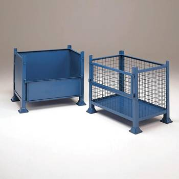 Steel pallet: half-drop side