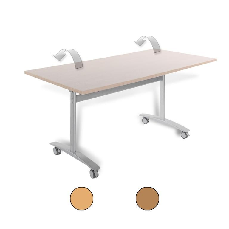 Rectangular fliptop table