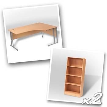 Ergo desk + 2 x bookcase H1725mm