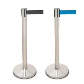 Stainless steel belt barriers