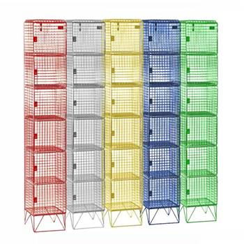 Budget mesh lockers: 6 compartments