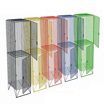Low level mesh lockers: 2 compartments