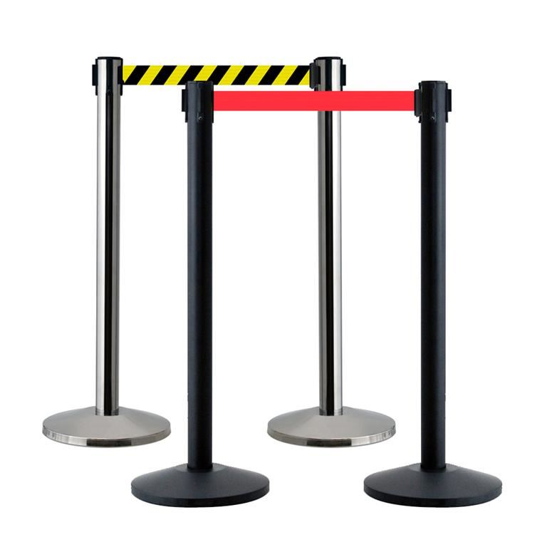 Budget belt barriers (pair)