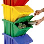 Recycling box system