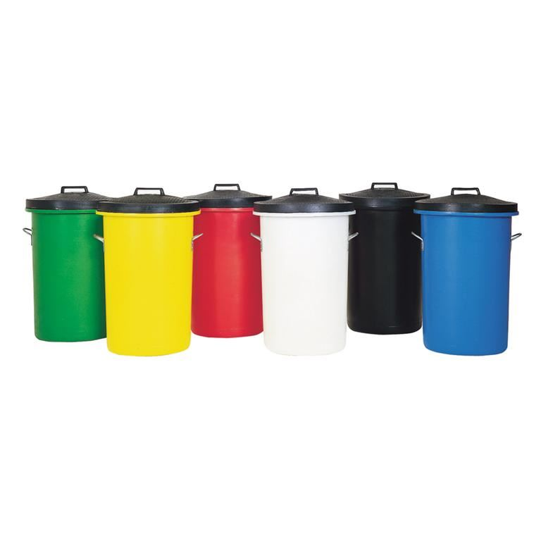 Heavy duty coloured dustbin: 85L