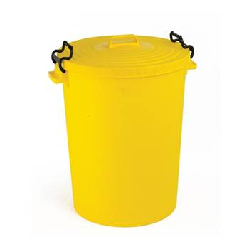 Light duty coloured outdoor dustbin: 110L