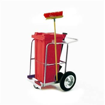 Street cleaning trolley: 1 x 120L bin