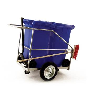 Large street cleaning trolley: 2 x 120L bins