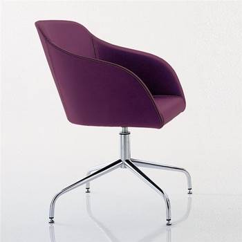 """""""Tulip"""" visitor chair: spider base"""