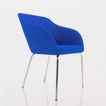 """Tulip"" visitor chair: straight leg"
