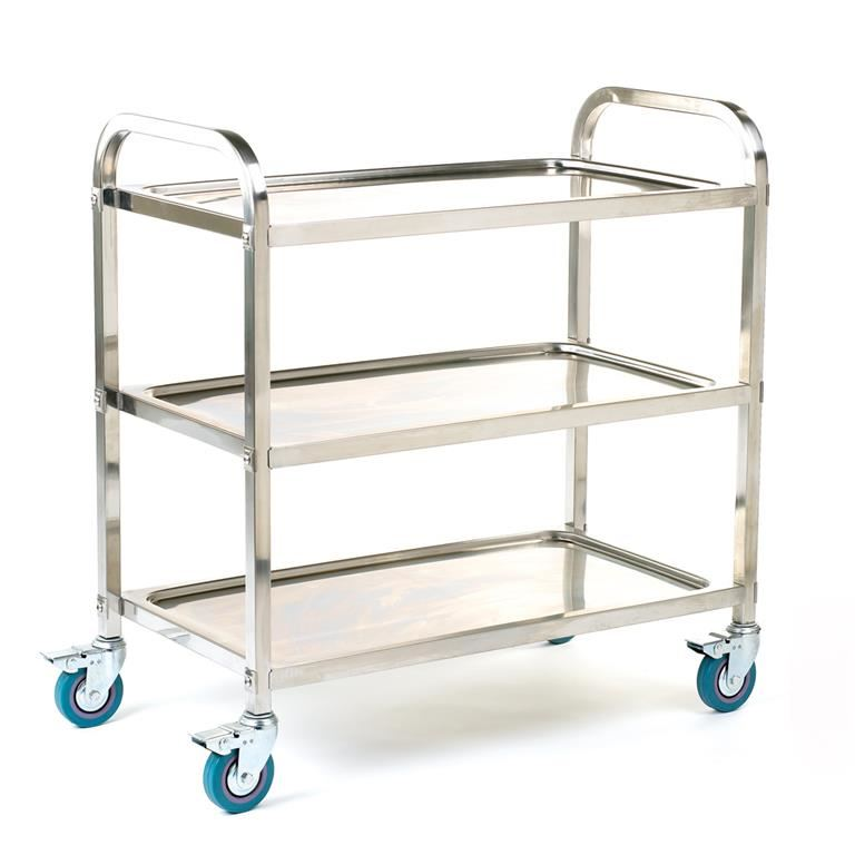 Stainless steel shelf trolley