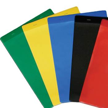 Tie-on Coloured Document Pockets