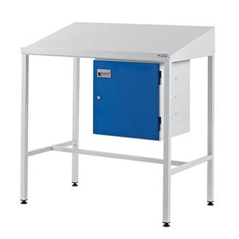 Team Leader Workstation with Cupboard
