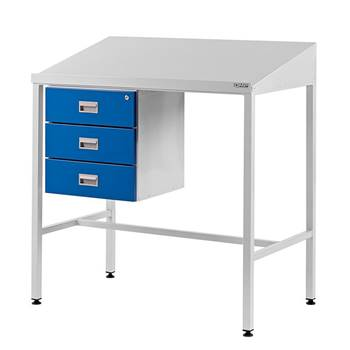 Team Leader Workstation with Triple Drawer Unit